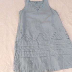 Linen Dress with pockets and beautiful embroidery